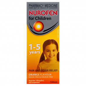 Nurofen for Children Suspension 1-5 Years 100ml Orange