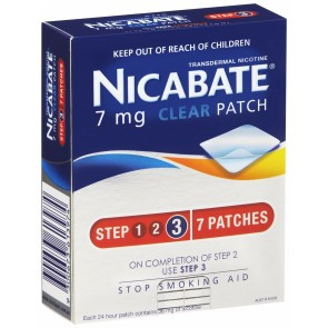 Nicabate CQ Clear Patch 7 mg 7 Pack