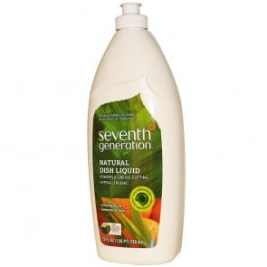 Seventh Generation Dishwashing Liquid Lemongrass and Clementine Zest 739ml x 6