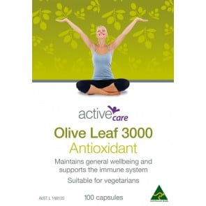 Active Care Olive Leaf 3000 100 Capsules