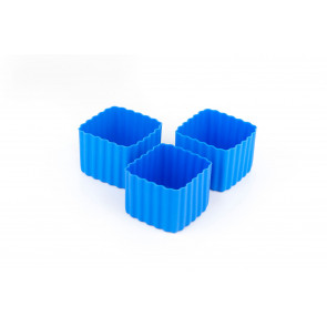Little Lunch Box Co - Bento Cups Square - Blue (3 pack)