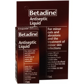 Betadine Antiseptic Liquid 15 ml