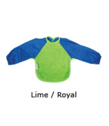 Silly Billyz Small Bib Long Sleeved Towel- Lime/Royal Blue