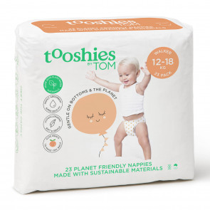 Tooshies by TOM eco Nappies- Walker Size 5 BULK (23pk x 4)