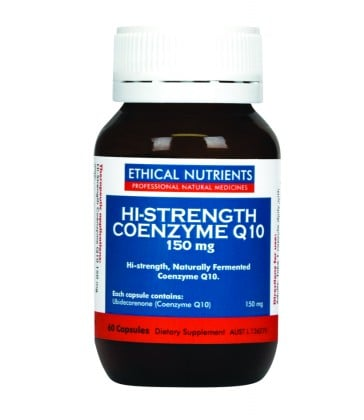 Ethical Nutrients Hi-Strength Coenzyme Q10 150mg 60 Caps