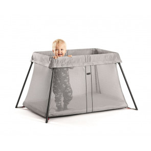 BabyBjorn Travel Cot Light Silver Mesh