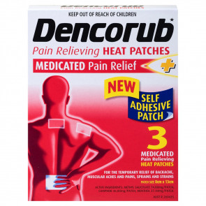 Dencorub Pain Relieving Heat Patch 3