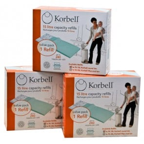 Korbell Nappy Disposal System Single Refill Pack x 3