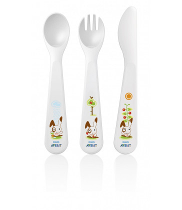 Philips Avent Toddler Feeding Toddler Knife, Fork and Spoon 18mth+