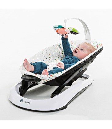 4moms bounceRoo Baby Bouncer- Multi Colour Plush