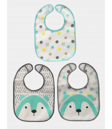 Plum Pack Bibs - Bear (3 pack)