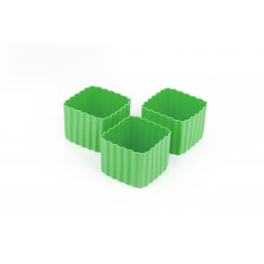 Little Lunch Box Co - Bento Cups Square - Green (3 pack)