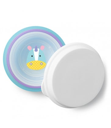 Skip Hop Zoo Smart Serve Non-Slip Bowls - Unicorn