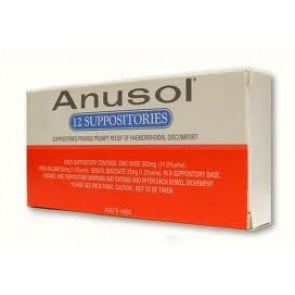 Anusol Suppositories 12 Pack