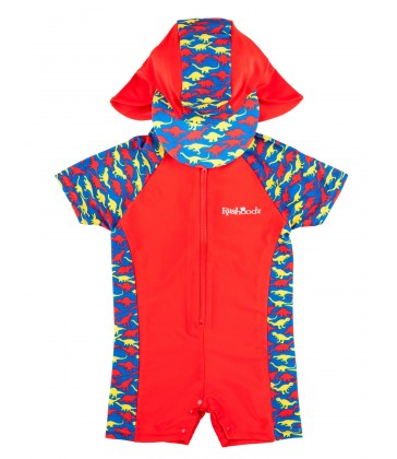 Rashoodz Baby & Toddler Swimsuit (Rash Suit and Hat)- Jurassic Jive Size 000